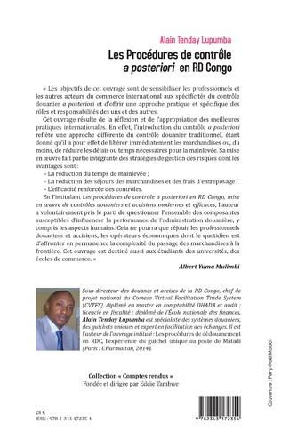 4eme Les Procédures de contrôle <em>a posteriori</em> en RD Congo
