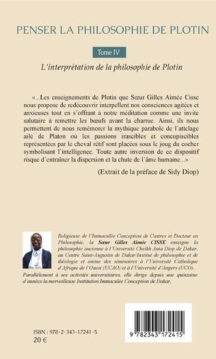 4eme Penser la philosophie de Plotin Tome IV