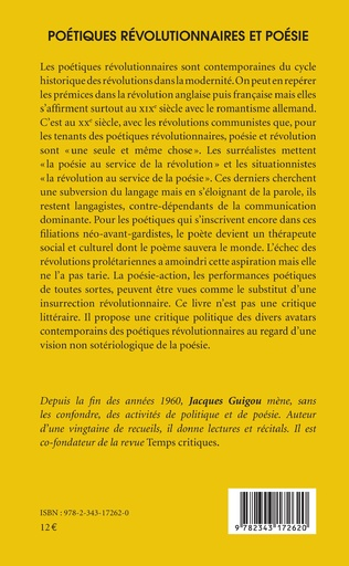 4eme Poétiques révolutionnaires et poésie