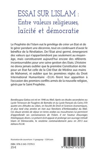 4eme Essai sur l'Islam : entre valeurs religieuses, laïcité et démocratie