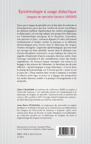 4eme Epistémologie à usage didactique