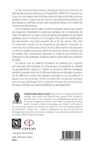 4eme Pilotage des politiques publiques au Sénégal de 1960 à 2012