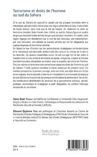 4eme Terrorisme et droits de l'homme au sud du Sahara