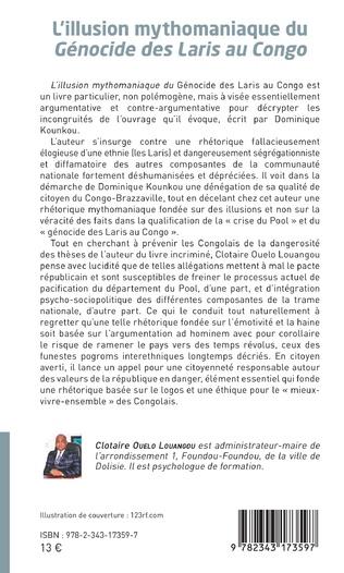 4eme L'illusion mythomaniaque du <em>Génocide des Laris au Congo</em>