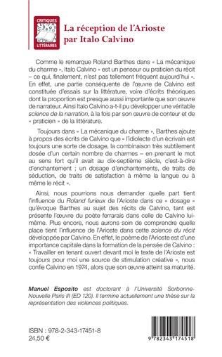 4eme La réception de l'Arioste par Italo Calvino