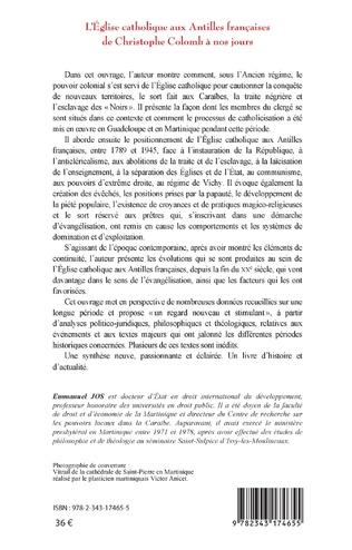 4eme L'Eglise catholique aux Antilles françaises de Christophe Colomb à nos jours