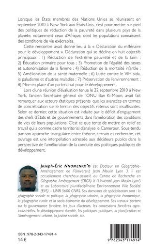 4eme Les Objectifs du Millénaire pour le Développement (OMD) face à la réalité camerounaise