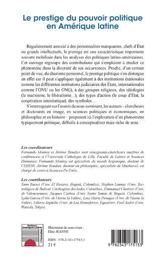 4eme Le prestige du pouvoir politique en Amérique latine
