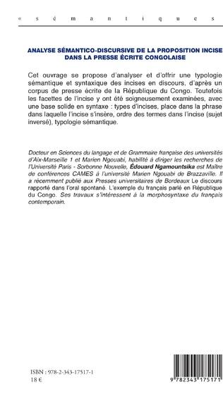 4eme Analyse sémantico-discursive de la proposition incise dans la presse écrite congolaise