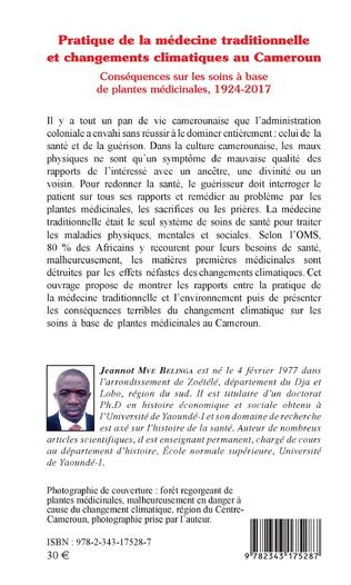 4eme Pratique de la médecine traditionnelle et changements climatiques au Cameroun