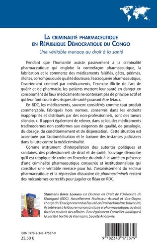 4eme La criminalité pharmaceutique en République Démocratique du Congo