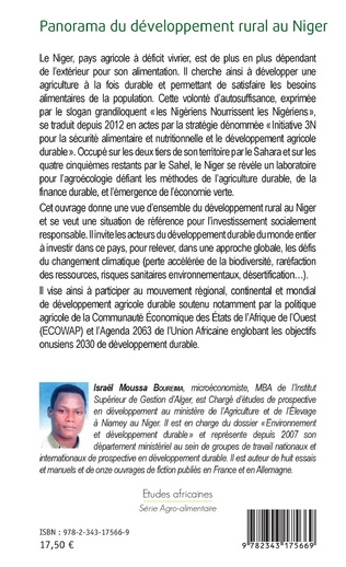 4eme Panorama du développement rural au Niger
