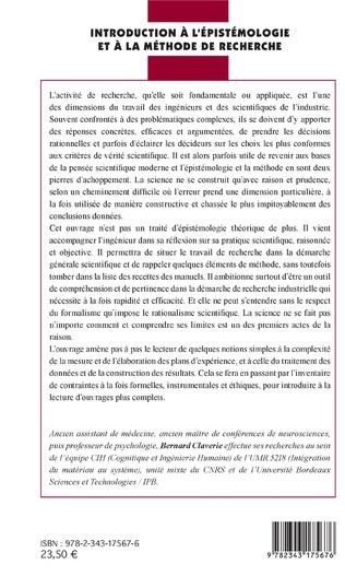4eme Introduction à l'épistémologie et à la méthode de recherche