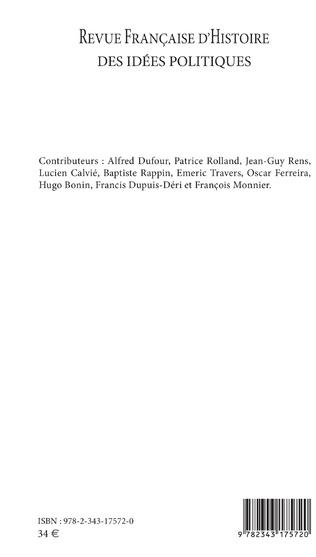 4eme Revue française (49) d'histoire des idées politiques