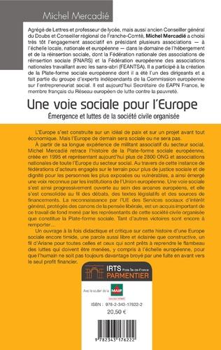 4eme Une voie sociale pour l'Europe