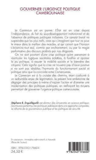4eme Gouverner l'urgence politique camerounaise