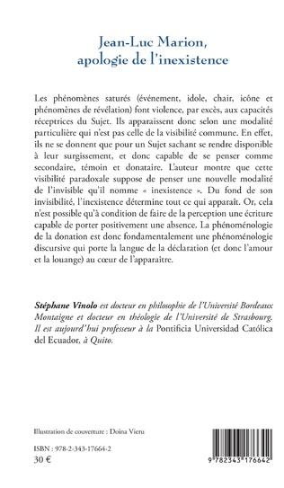4eme Jean-Luc Marion, apologie de l'inexistence