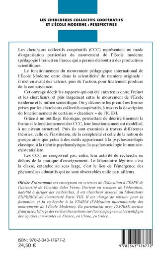 4eme Les chercheurs collectifs coopératifs et l'école moderne : perspectives