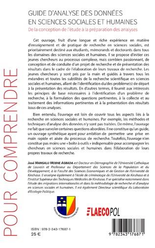 4eme Guide d'analyse des données en sciences sociales et humaines