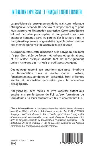 Intonation Expressive Et Francais Langue Etrangere