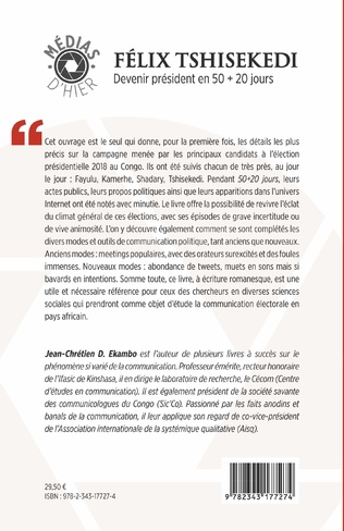 4eme Félix Tshisekedi. Devenir président en 50 + 20 jours