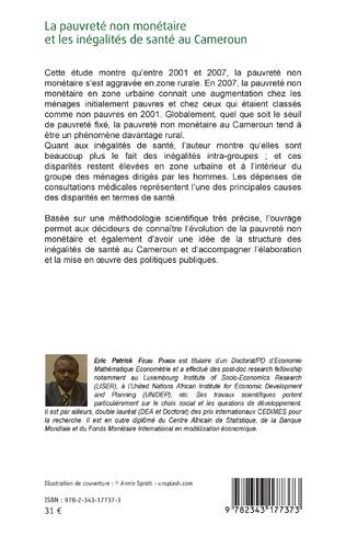4eme La pauvreté non monétaire et les inégalités de santé au Cameroun