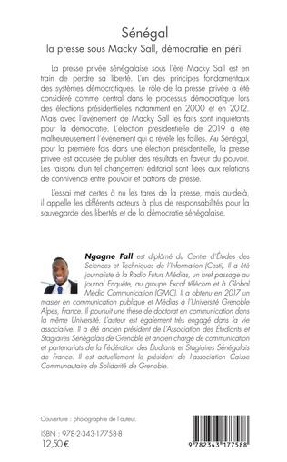 4eme Sénégal la presse sous Macky Sall, démocratie en péril