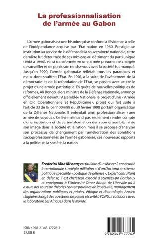 4eme La professionnalisation de l'armée au Gabon