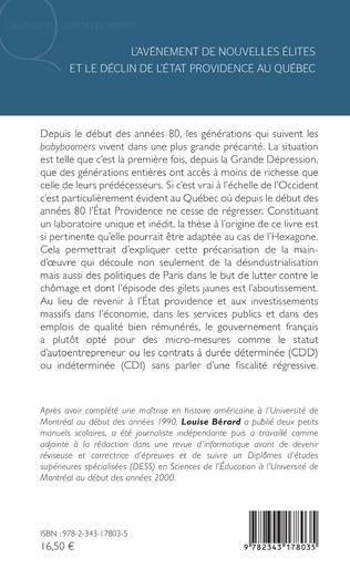 4eme L'avènement de nouvelles élites et le déclin de l'Etat providence au Québec