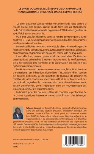 4eme Le droit douanier à l'épreuve de la criminalité transnationale organisée dans l'espace CEDEAO