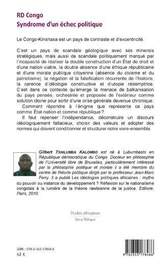 4eme RD Congo Syndrome d'un échec politique