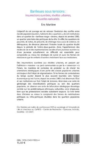 4eme Banlieues sous tensions : Insurrections ouvrières, révoltes urbaines, nouvelles radicalités