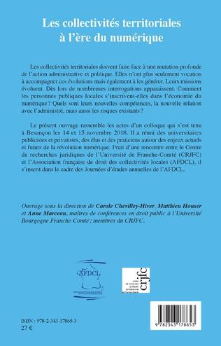 4eme Les collectivités territoriales à l'ère du numérique