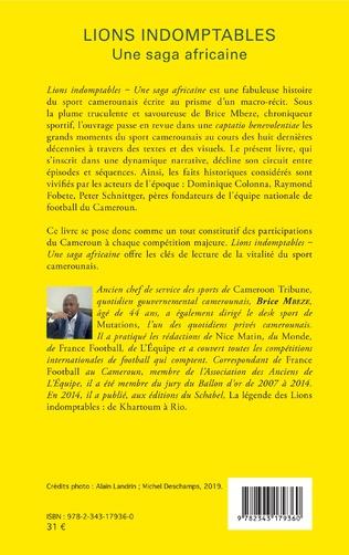 4eme Lions indomptables Une saga africaine