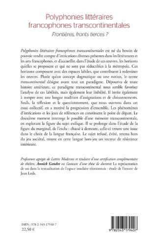 4eme Polyphonies littéraires francophones transcontinentales