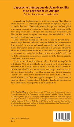 4eme L'approche théologique de Jean-Marc Ela et sa pertinence en Afrique