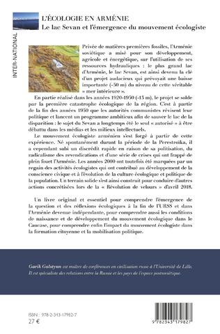 4eme L'écologie en Arménie