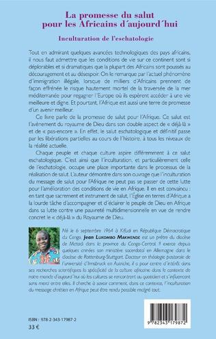 4eme La promesse du salut pour les Africains d'aujourd'hui