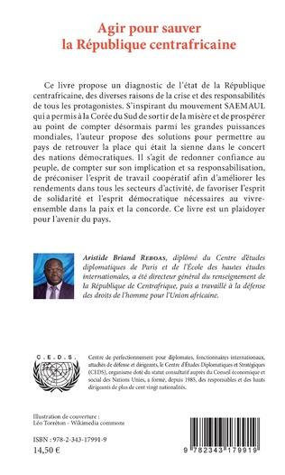 4eme Agir pour sauver la République centrafricaine