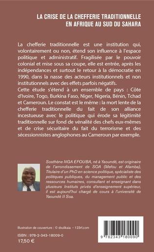 4eme La crise de la chefferie traditionnelle en Afrique au sud du Sahara