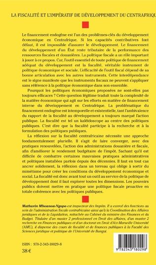 4eme La fiscalité et l'impératif de développement du Centrafrique