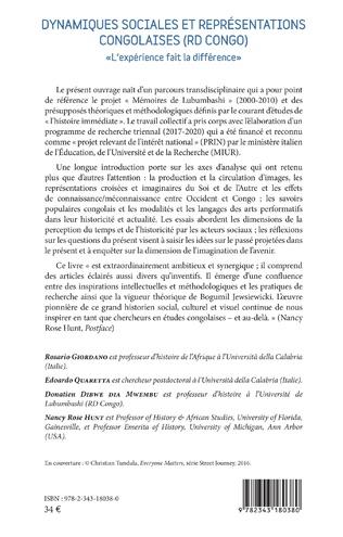 4eme Dynamiques sociales et représentations congolaises (RD Congo)