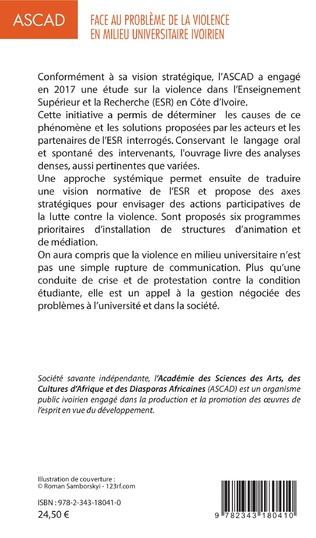 4eme Face au problème de la violence en milieu universitaire ivoirien