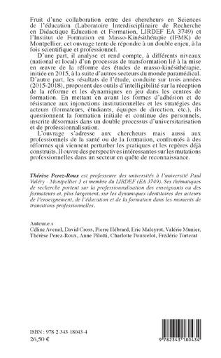 4eme La réforme des études en santé entre universitarisation et professionnalisation