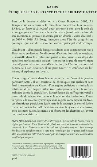 4eme Gabon Éthique de la résistance face au nihilisme d'État