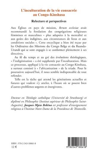 4eme L'inculturation de la vie consacrée au Congo-Kinshasa
