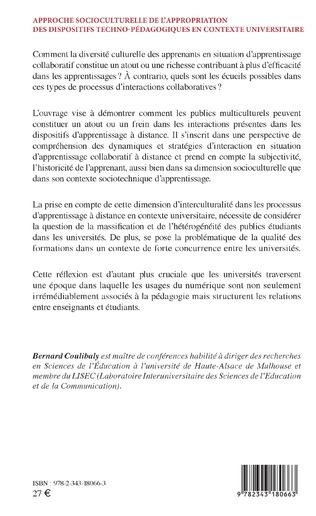 4eme Approche socioculturelle de l'appropriation des dispositifs techno-pédagogiques en contexte universitaire