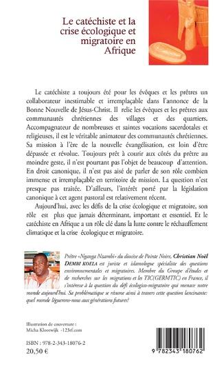 4eme Le catéchiste et la crise écologique et migratoire en Afrique