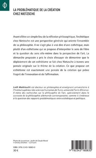 4eme La problématique de la création chez Nietzsche