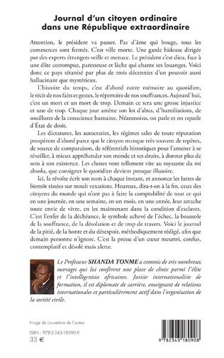 4eme Journal d'un citoyen ordinaire dans une République extraordinaire